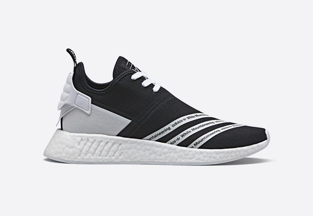 adidas Originals NMD R_2 Primeknit Mountaineering – pánské boty – tenisky sneaker – černé, bílo-černé – black/white