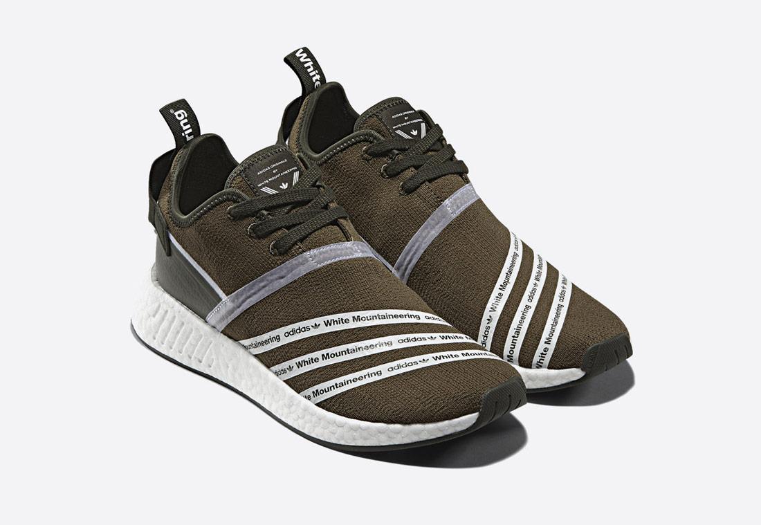 adidas Originals NMD R_2 Primeknit Mountaineering – pánské boty – tenisky sneaker – tmavě zelené, olivové, zeleno-hnědé – green/brown/olive