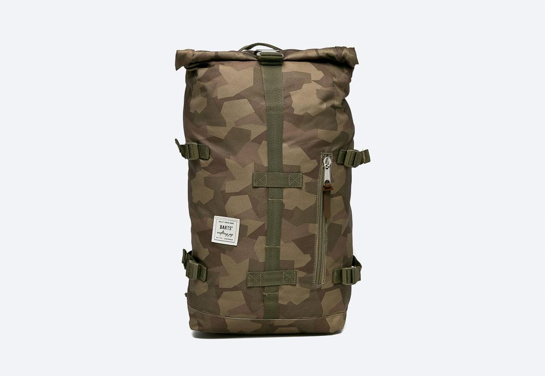 Barts Mountain Backpack — roll top batoh — maskáčový — zelený