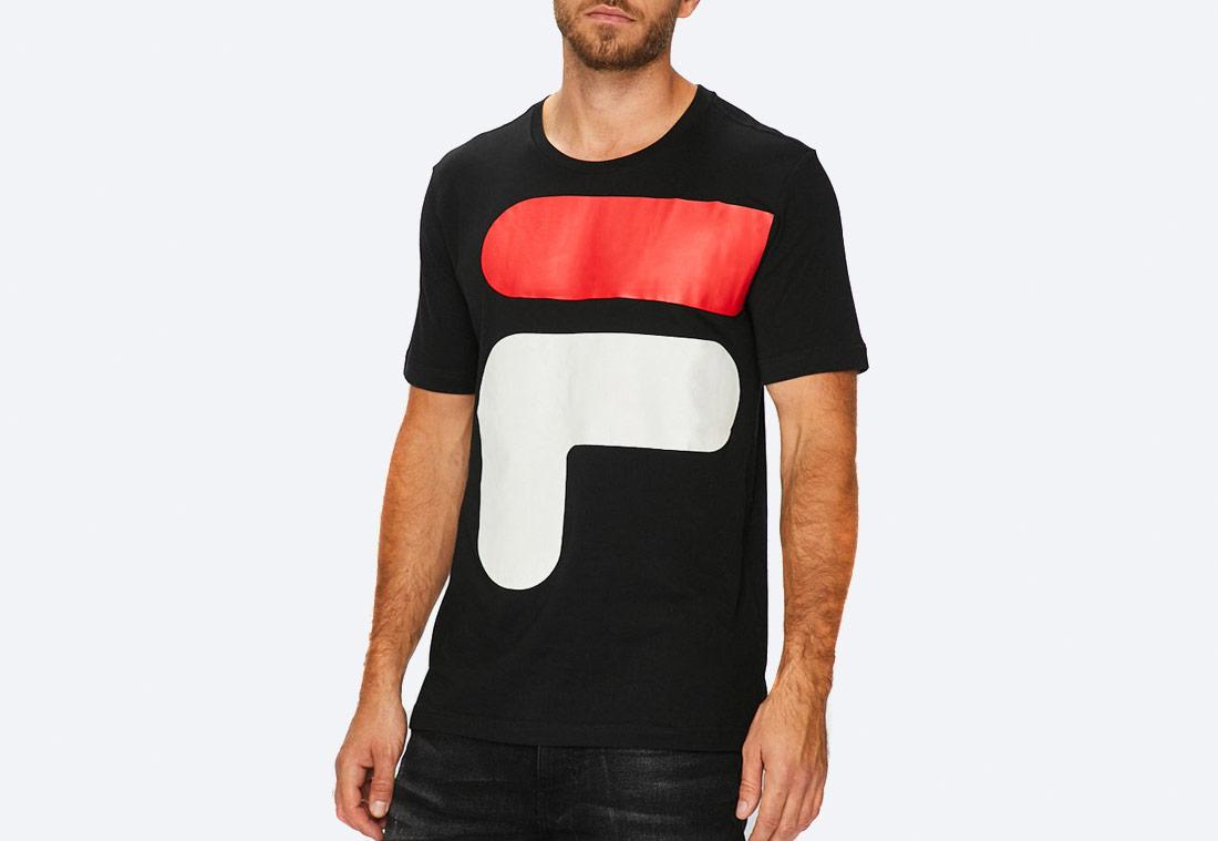 Fila Logo Tee Shirt — pánské tričko s potiskem — černé