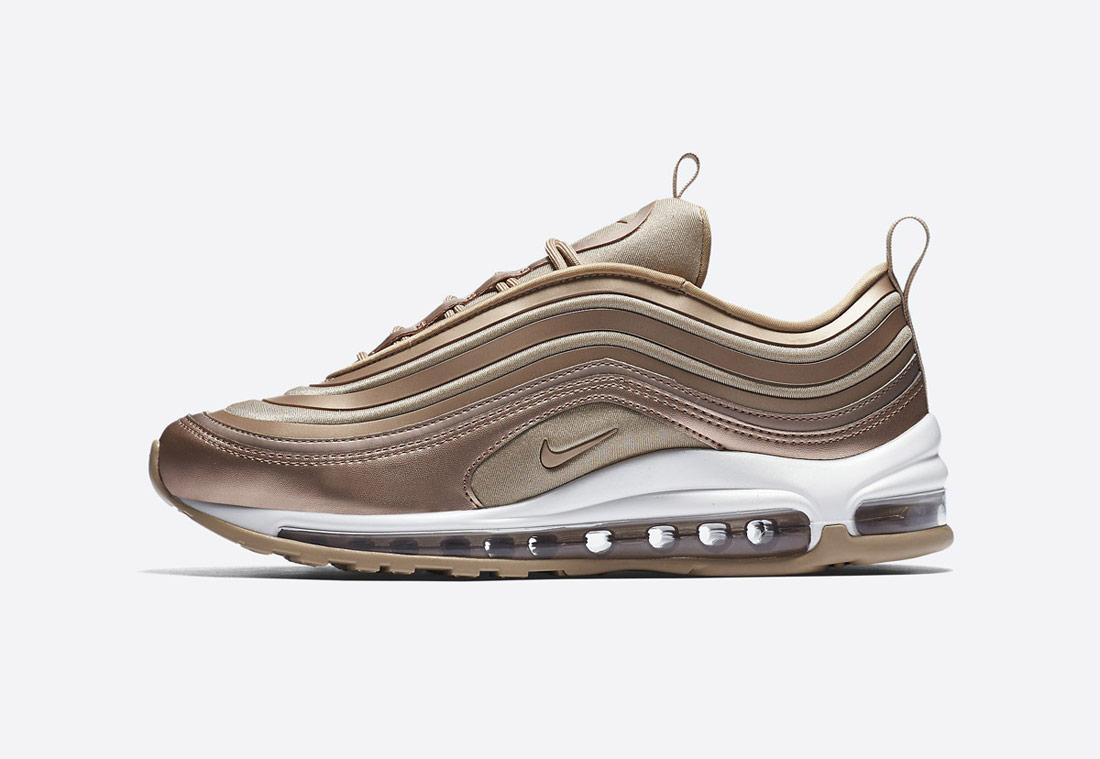 Nike Air Max 97 Ultra '17 — dámské boty — bronzové — tenisky — wommen's bronze sneakers