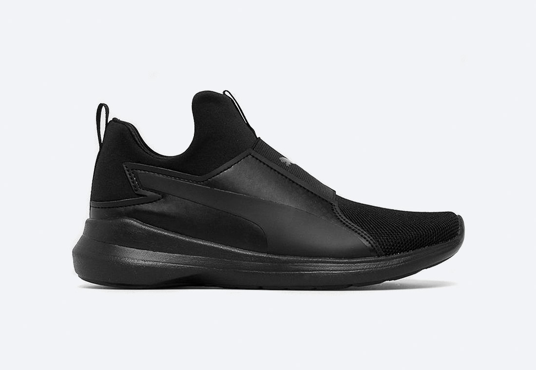 Fila Rebel Mid Core Black — dámské boty bez tkaniček – černé