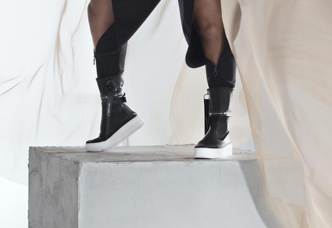 Nike Air Force 1 Sage High — vysoké kozačky — podzimní/zimní — černé