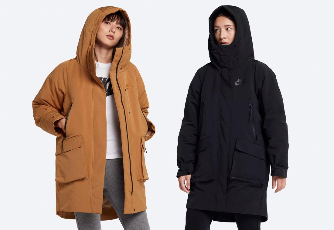 Nike Sportswear Tech Pack Down-Fill — dámská parka — zimní bunda s kapucí