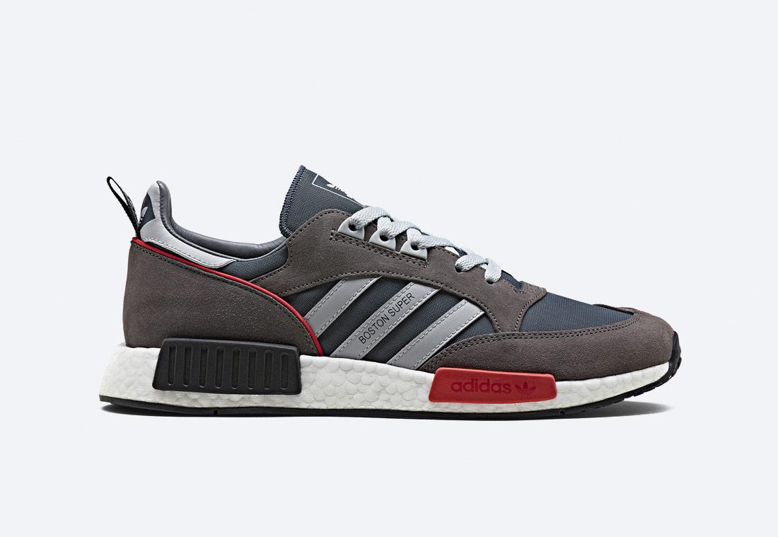 adidas Originals Boston SuperxR1 — boty — sneakers — tenisky — šedé