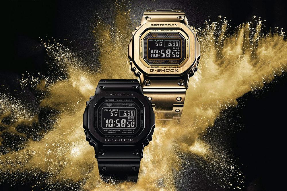 Casio G-shock Full Metal 5000 — digitální hodinky — ocelové — zlaté, černé