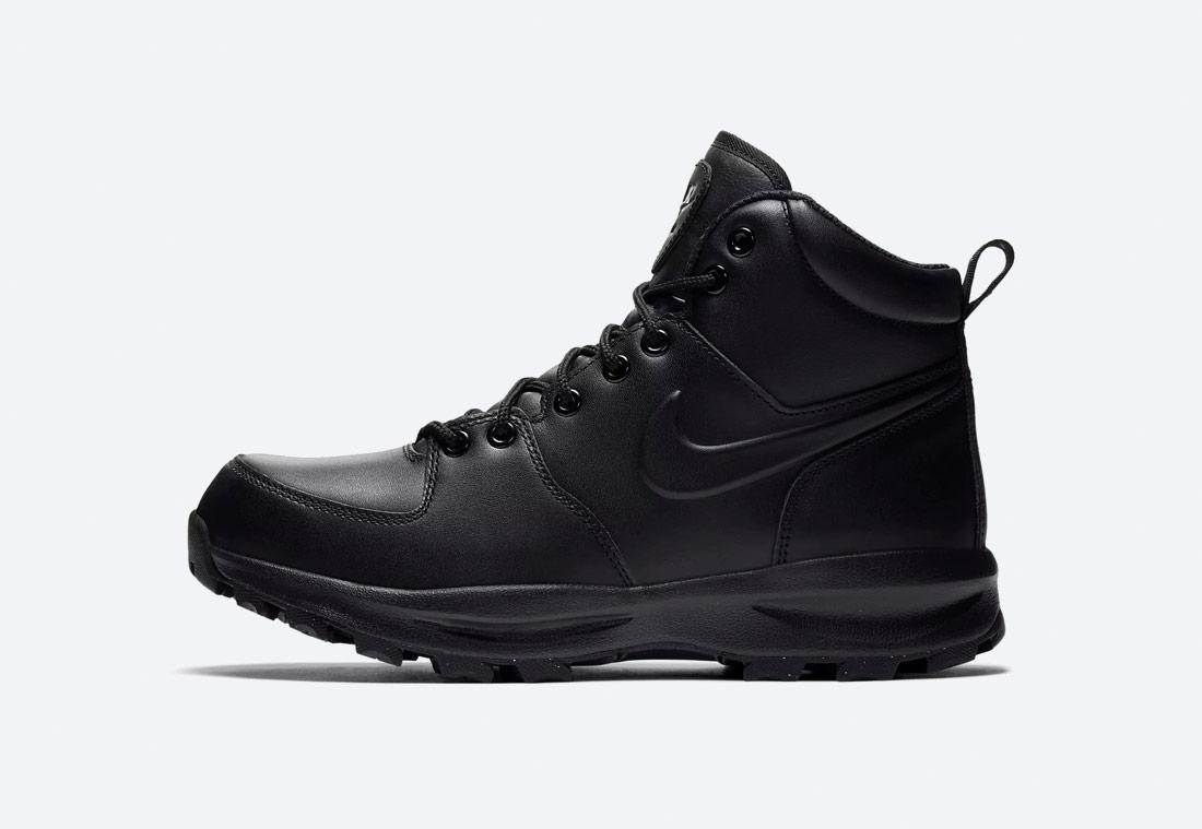 Nike Manoa — zimní boty — kotníkové, vysoké — pánské — černé