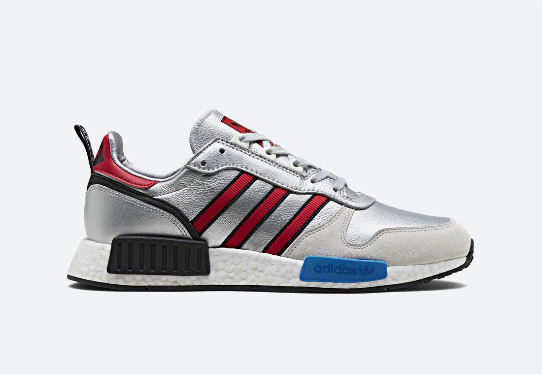 adidas Originals Rising StarxR1 — boty — sneakers — tenisky — stříbrné