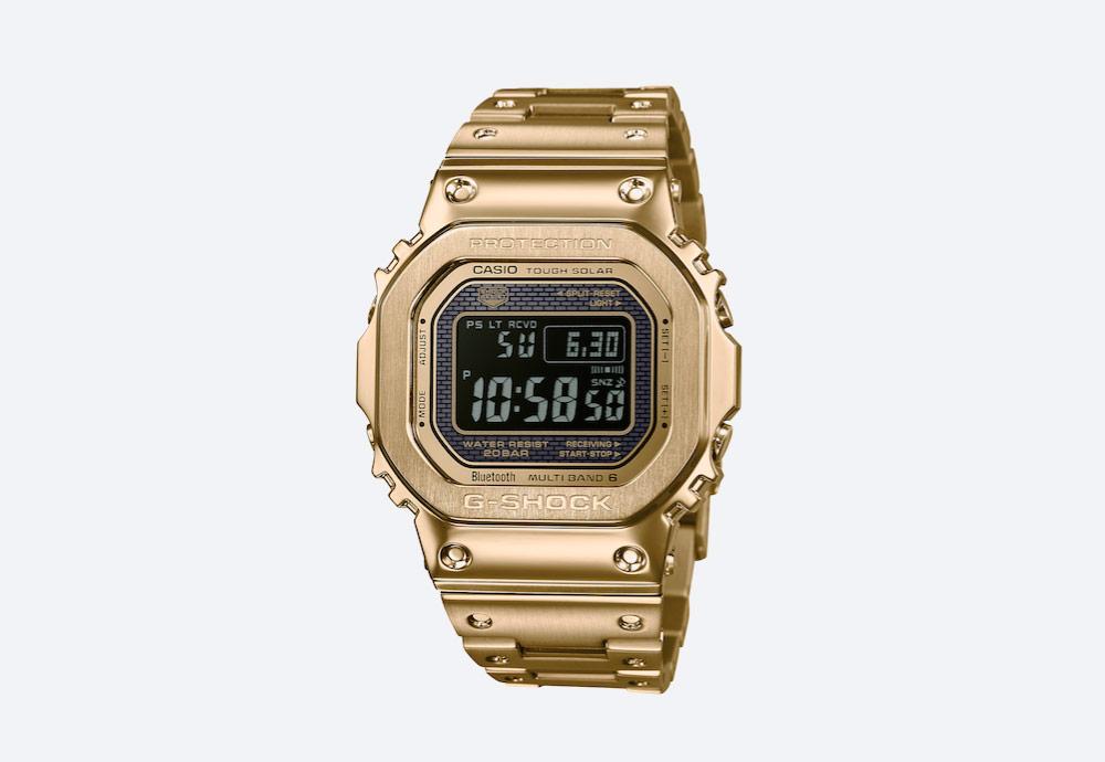 Casio G-shock GMWB5000GD-9 — digitální hodinky — ocelové — zlaté