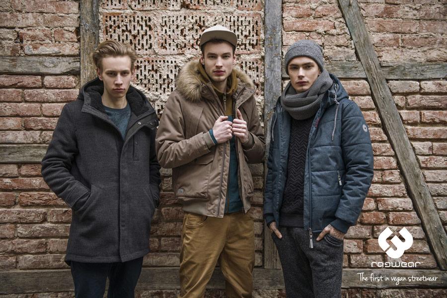 Ragwear — zimní bundy s kapucí — kabáty — pánské