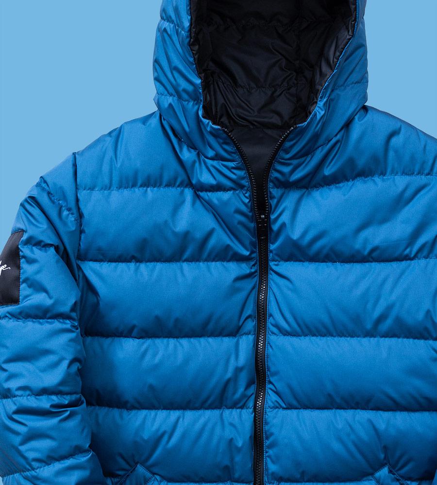 Phenotype — péřová bunda s kapucí — pánská — modrá