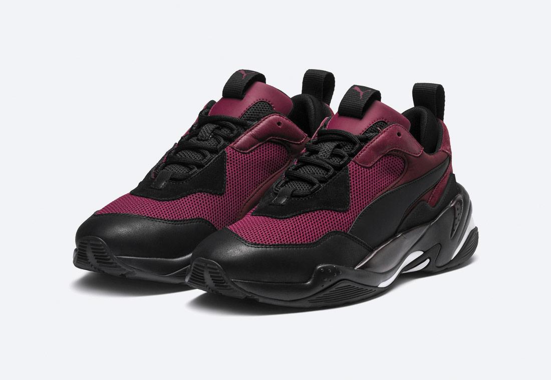 Puma Thunder Spectra — boty — sneakers — vínově červené, černé