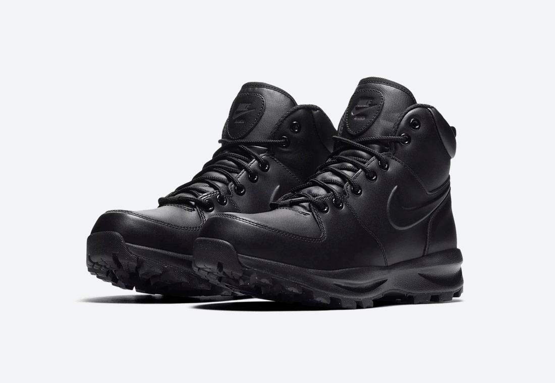 Nike Manoa — zimní boty — kotníkové, vysoké — pánské — hnědé