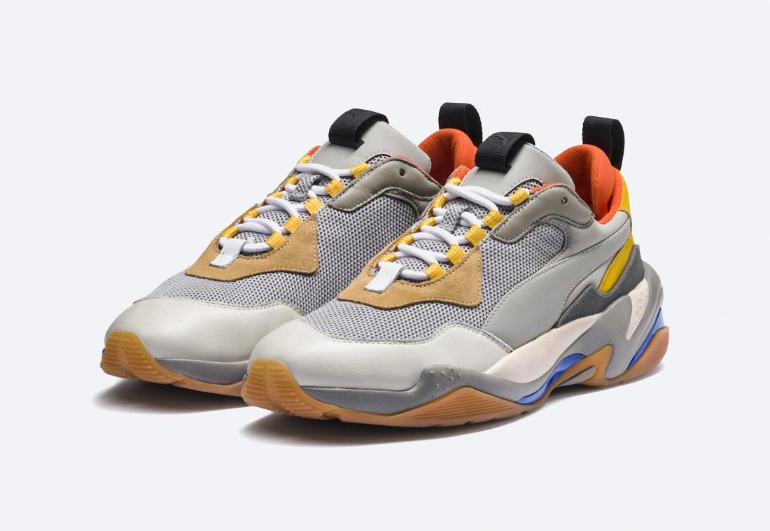Puma Thunder Spectra — boty — sneakers — šedé, žluté, barevné