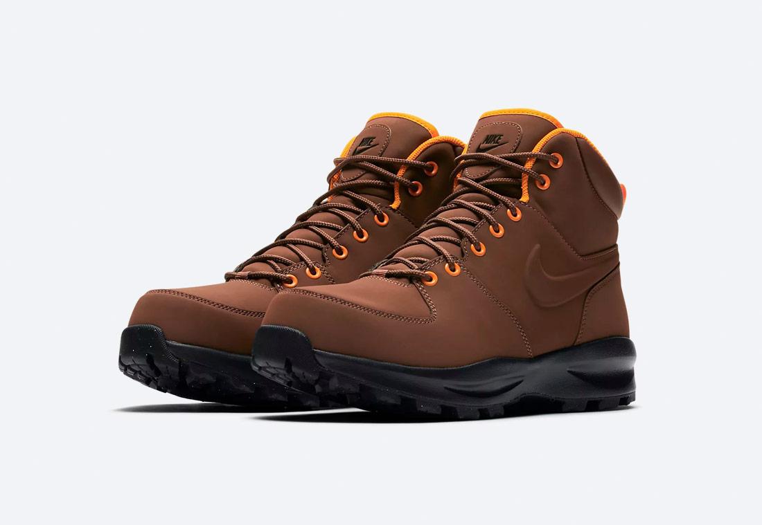 Nike Manoa — zimní boty — kotníkové, vysoké — pánské — béžové
