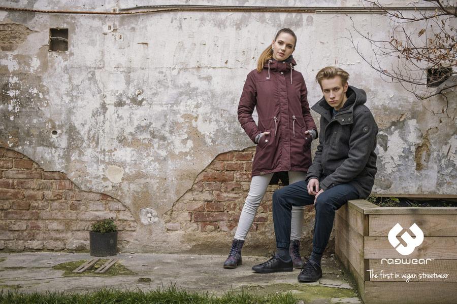 Ragwear — dámská vínová parka s kapucí — pánský zimní kabát s kapucí