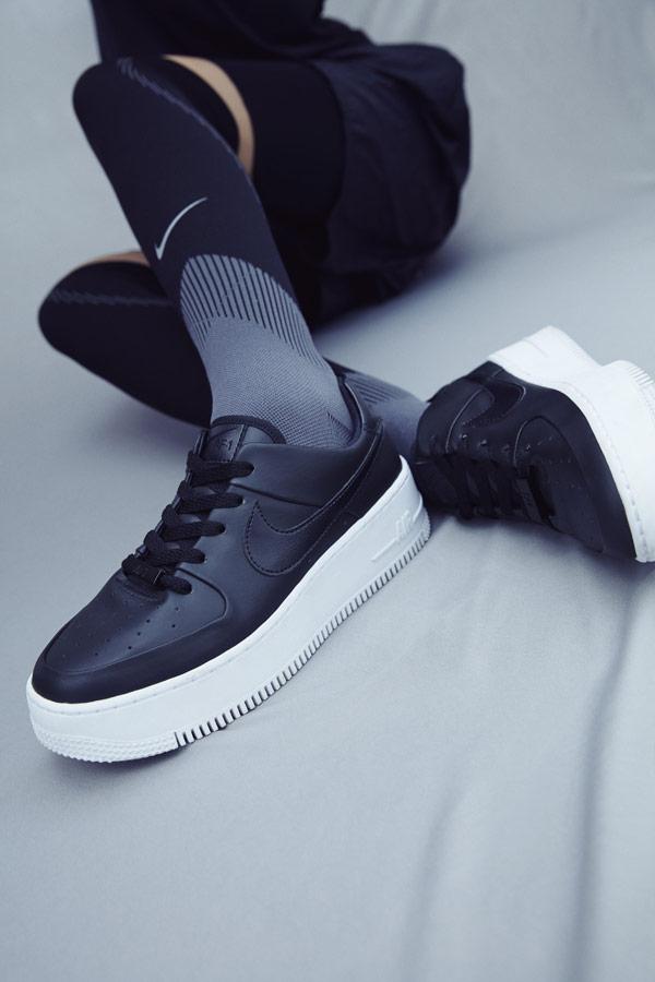 Nike Air Force 1 Sage Low — dámské boty — tenisky — sneakers — černé — lookbook
