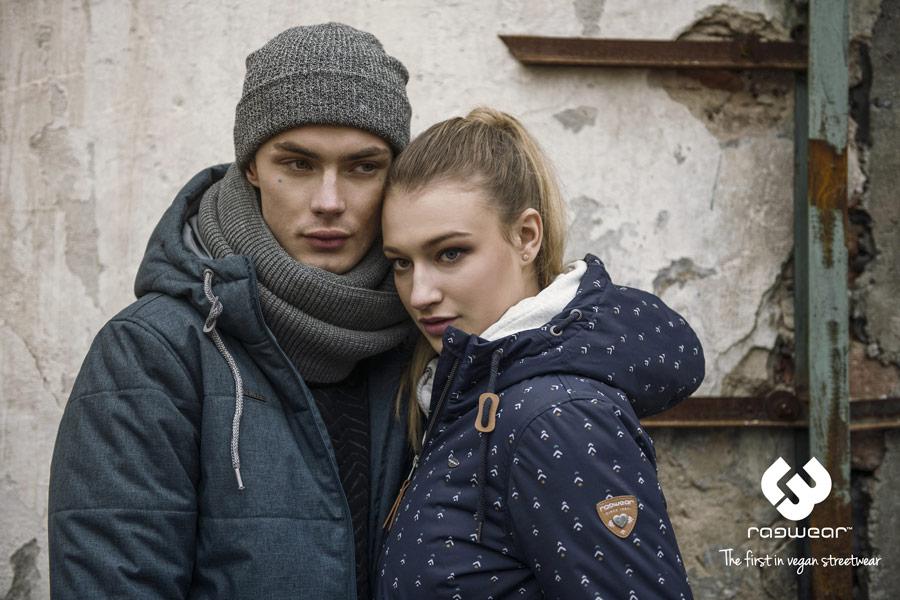 Ragwear — modrá pánská zimní bunda s kapucí — modrá pánská zimní bunda s kapucí