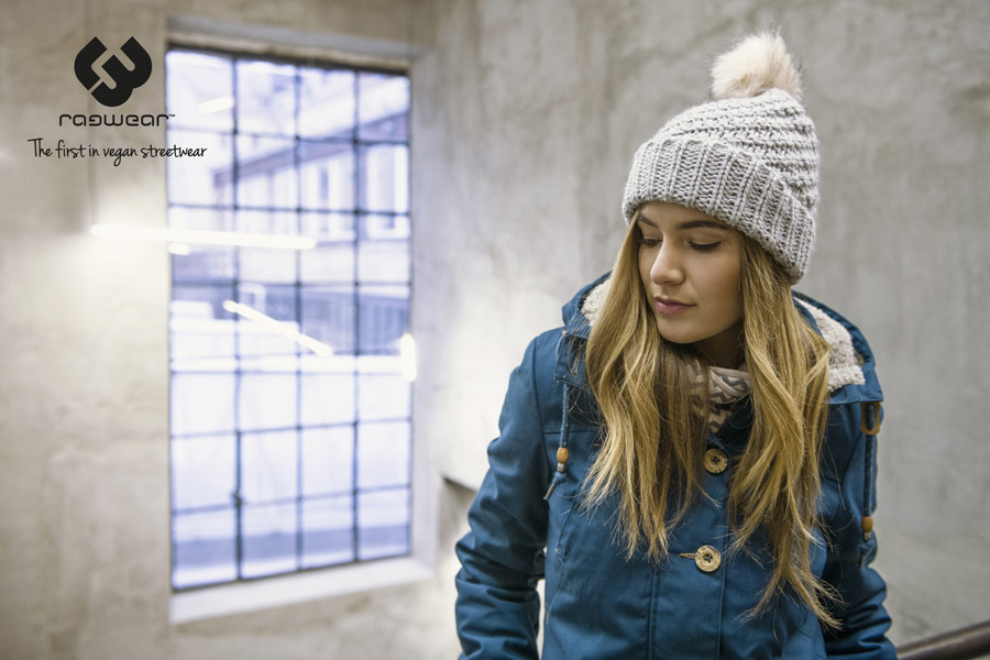 Ragwear — zimní bunda z kapucí s kožešinou — modrá — dámská — parka