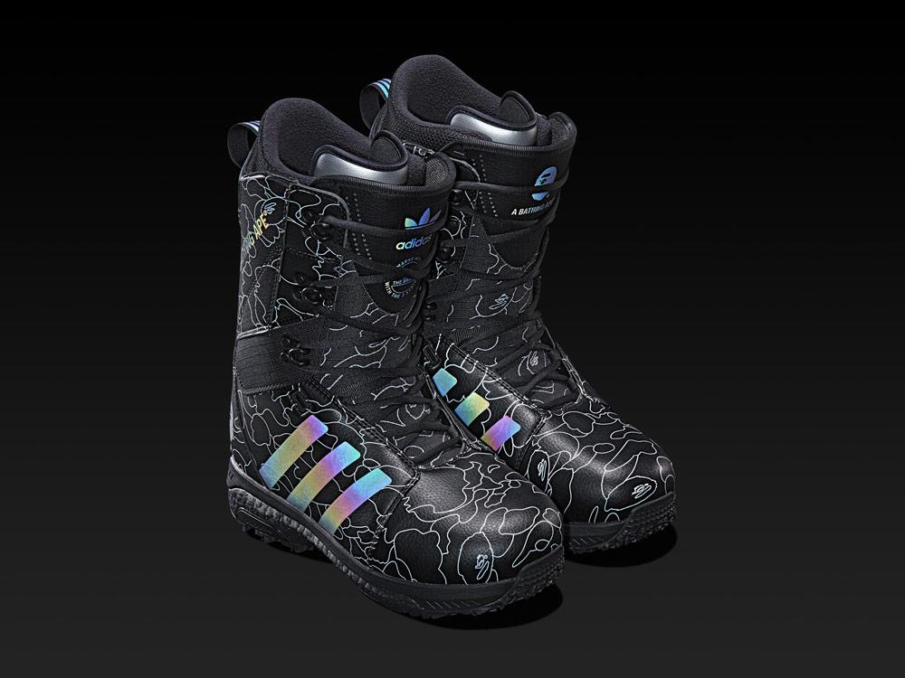 adidas Snowboarding by BAPE® — snowboardové boty Tactical ADV — černé se vzorem