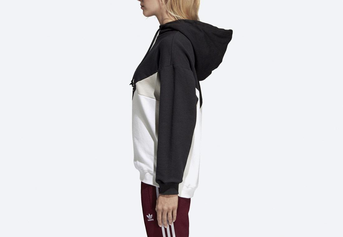 adidas Originals Clrdo OG — dámská mikina s kapucí — černá, bílá — hoodie