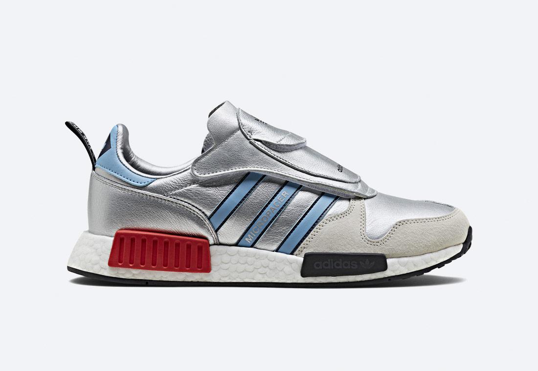 adidas Originals MicropacerxR1 — stříbrné boty — tenisky — sneakers