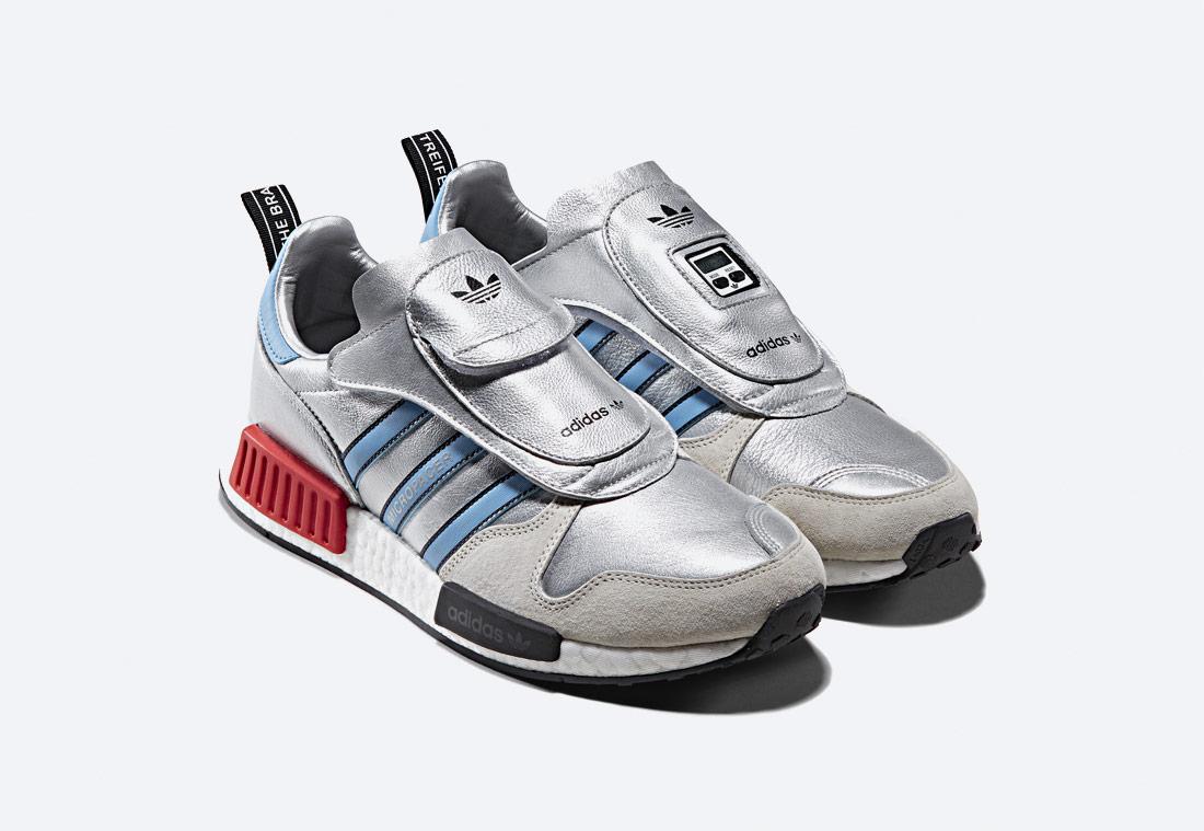 adidas Originals MicropacerxR1 — stříbrné tenisky — boty — sneakers
