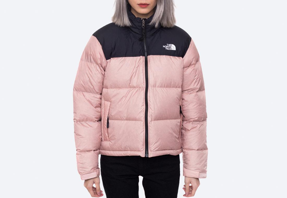 The North Face 1996 Retro NUPTSE — zimní péřová bunda — dámská — růžová