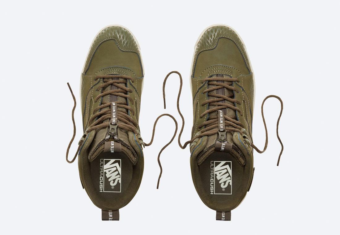 Vans Ultrarange Hi MTE — zimní boty — kotníkové — vysoké — pánské, dámské — zelené, olivové