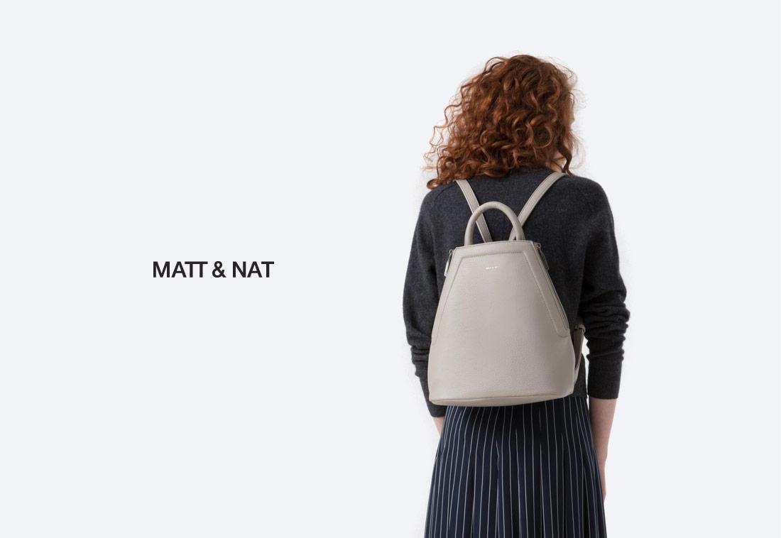 MATT & NAT — dámské batohy — elegantní — vegan, sustainable
