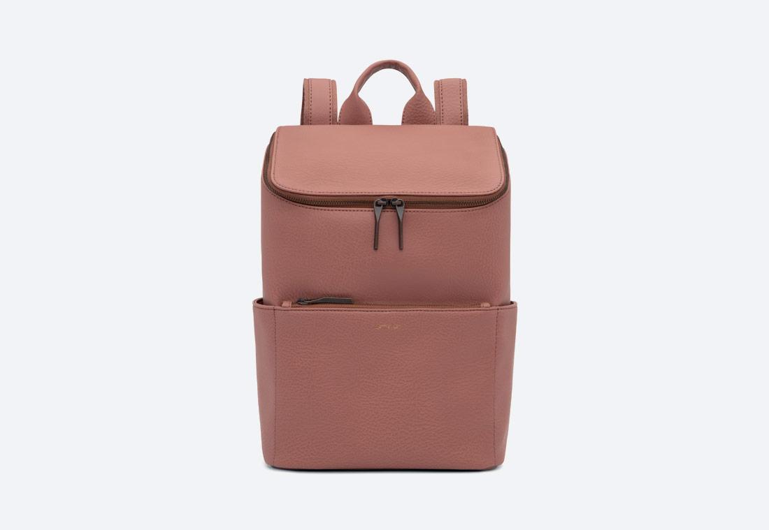 MATT & NAT — Brave — dámský batoh — elegantní — okrový — vegan, sustainable
