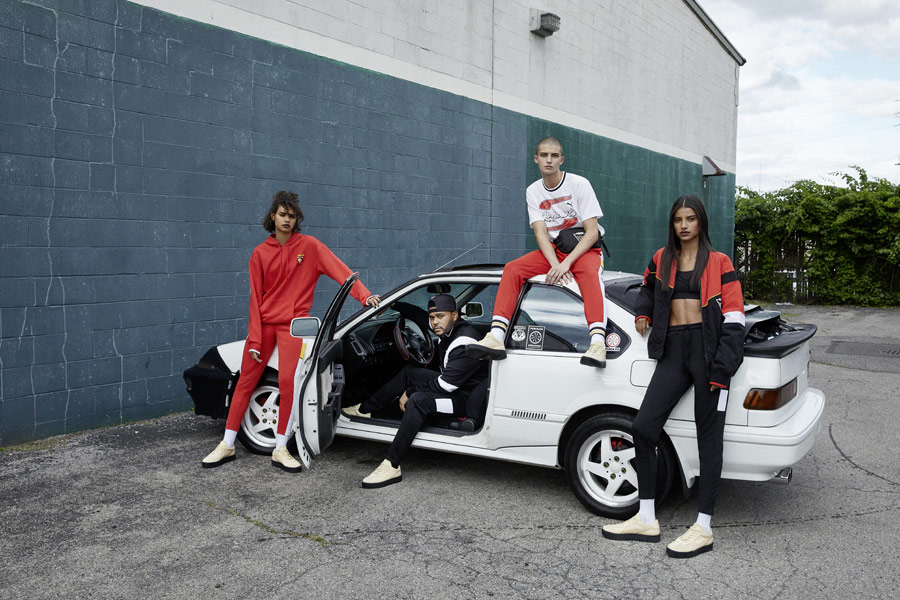 PUMA x XO — sportovní oblečení — pánské, dámské — tepláky, legíny, mikiny — AW 18