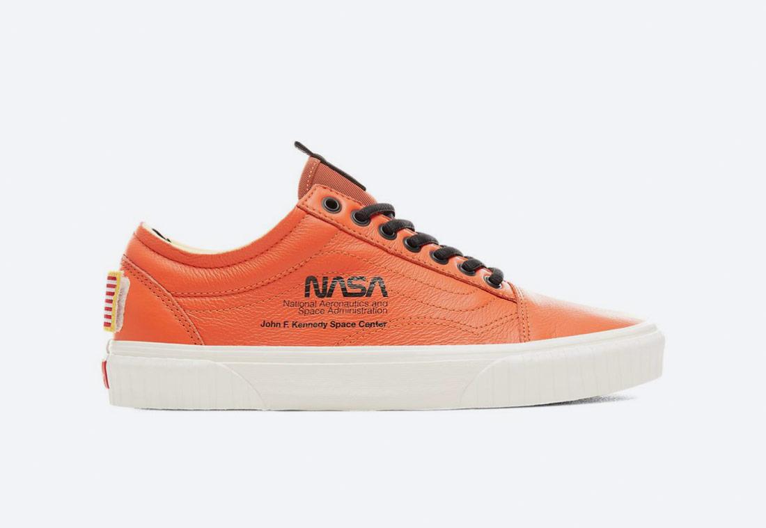 Vans x NASA — Space Voyager Old Skool — boty — tenisky — sneakers — oranžové — pánské, dámské