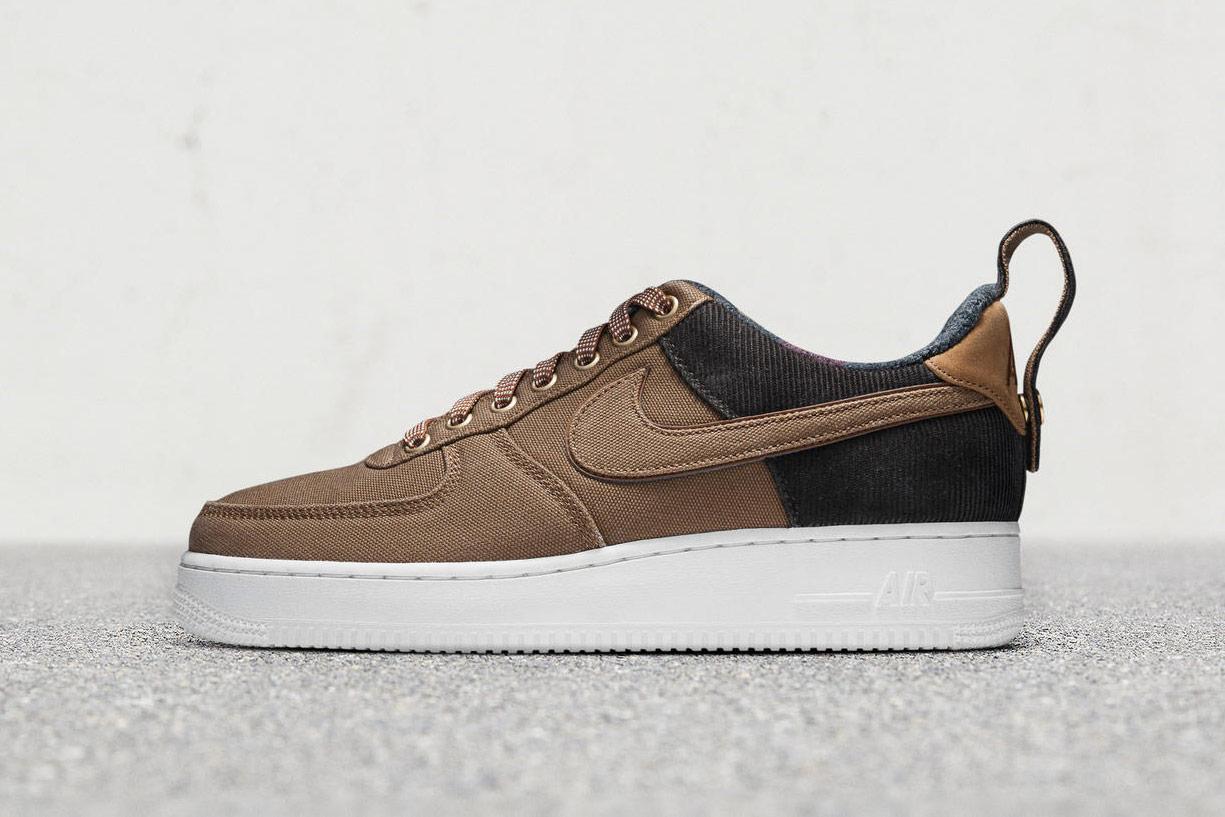 Carhart WIP x Nike Air Force 1 Low — boty — sneakers — hnědé, béžové — pánské, dámské — Airmaxy