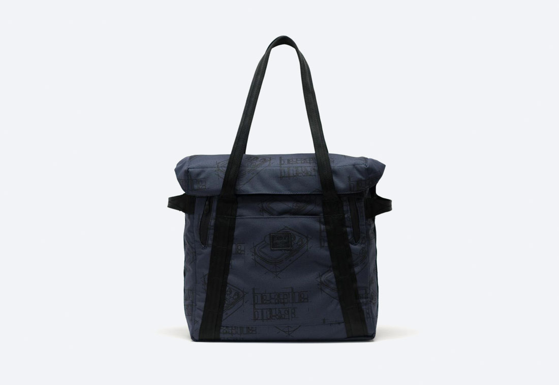 Herschel Supply x Beastie Boys: Hello Nasty — Record Bag — taška na vinylové desky — modrá