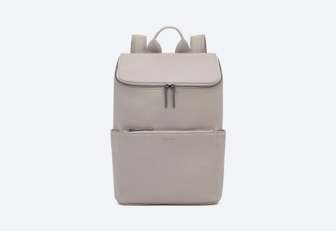 MATT & NAT — Brave — dámský batoh — elegantní — šedý — vegan, sustainable