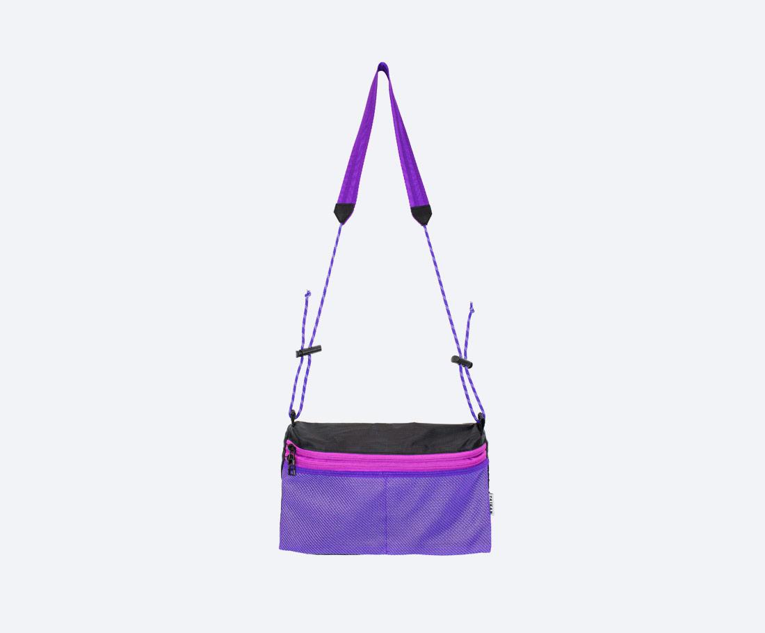 Taikan Sacoche Large — taška přes rameno na drobnosti — taštička na krk — dámská, pánská — fialová
