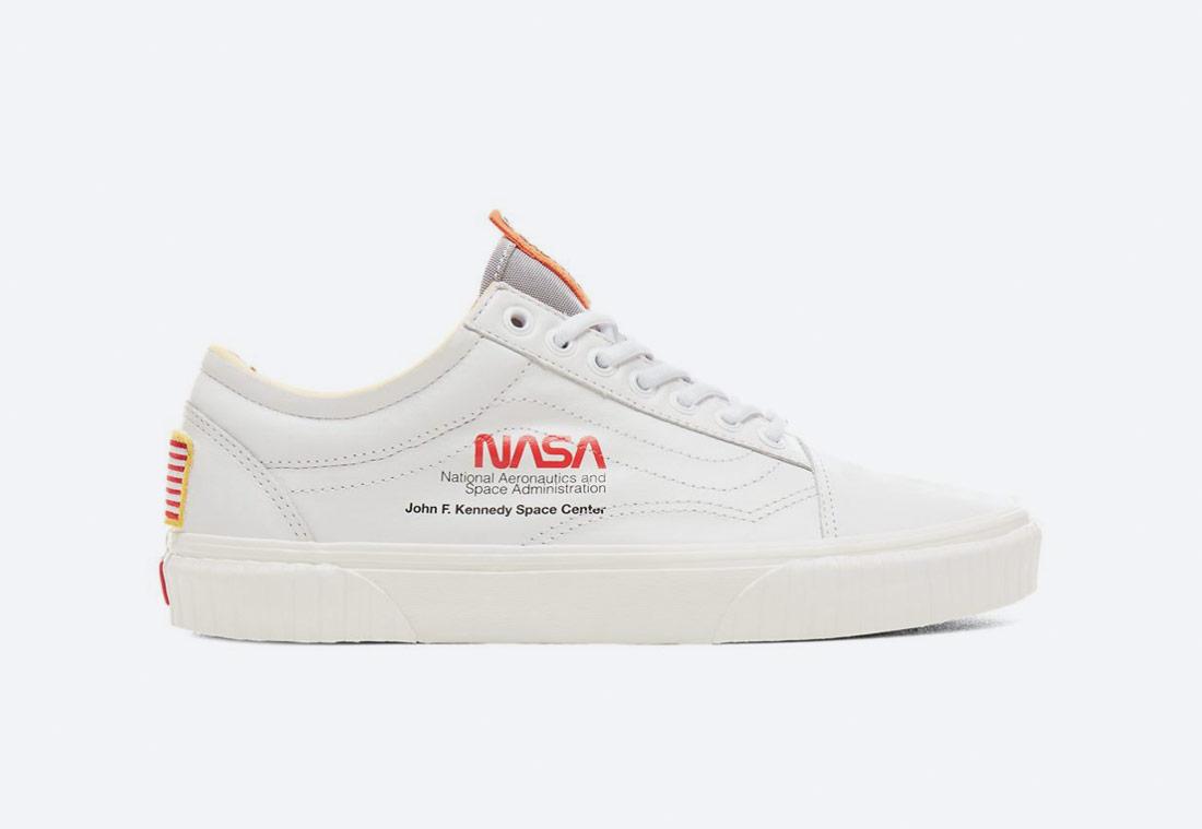 Vans x NASA — Space Voyager Old Skool — boty — bílé