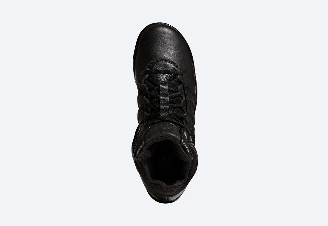adidas GSG-9.7 — outdoorové boty, taktické — vysoké — zimní — pánské — černé — horní pohled