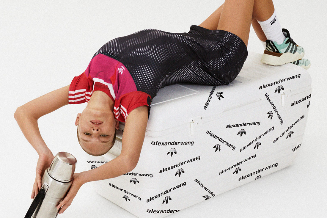 adidas Originals by Alexander Wang — sportovní šaty, síťované — červeno, černé — Turnout Trainer Shoes — Season 4 — lookbook