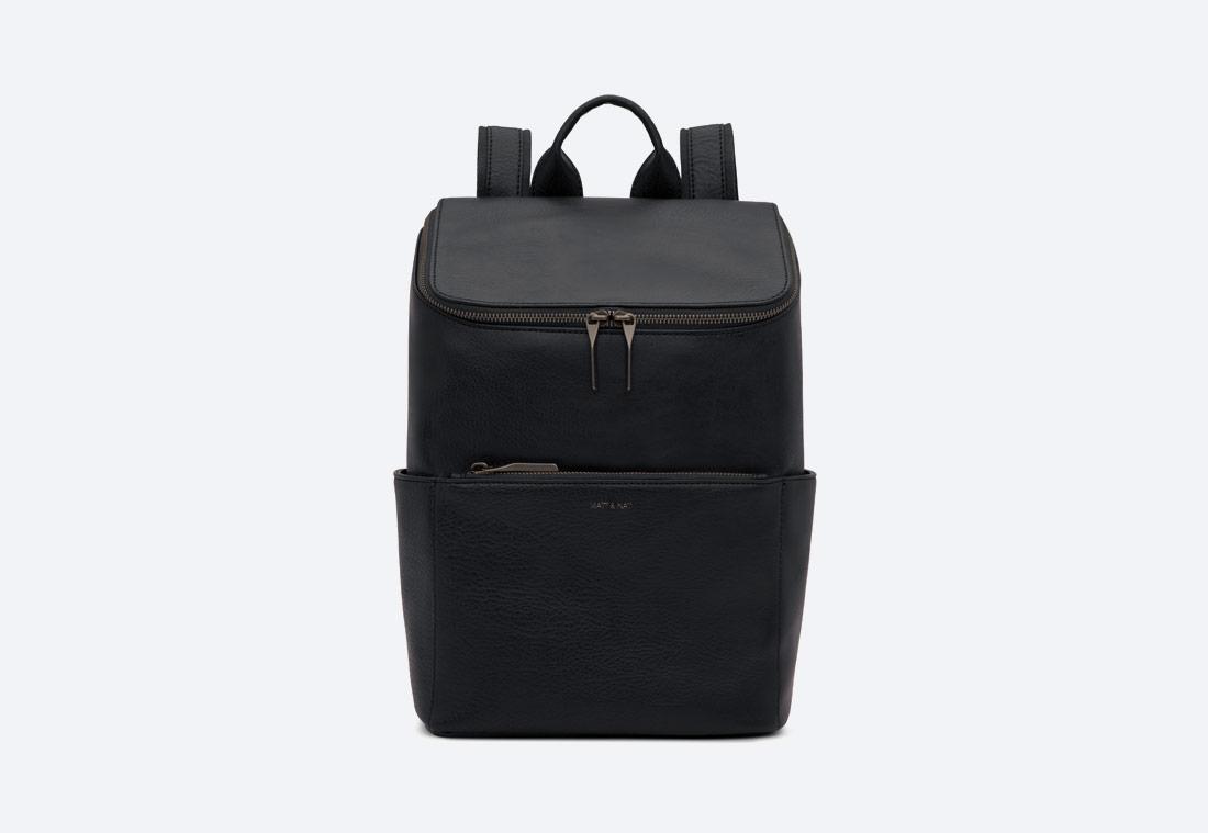 MATT & NAT — Brave — dámský batoh — elegantní — černý — vegan, sustainable