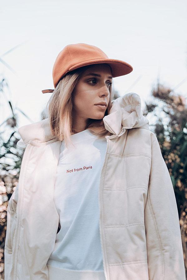 Paris+Hendzel — zimní kšiltovka — dámská, pánská — meruňková
