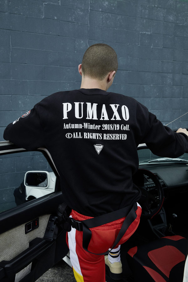 PUMA x XO — mikina s potiskem na zádech — černá — AW 18
