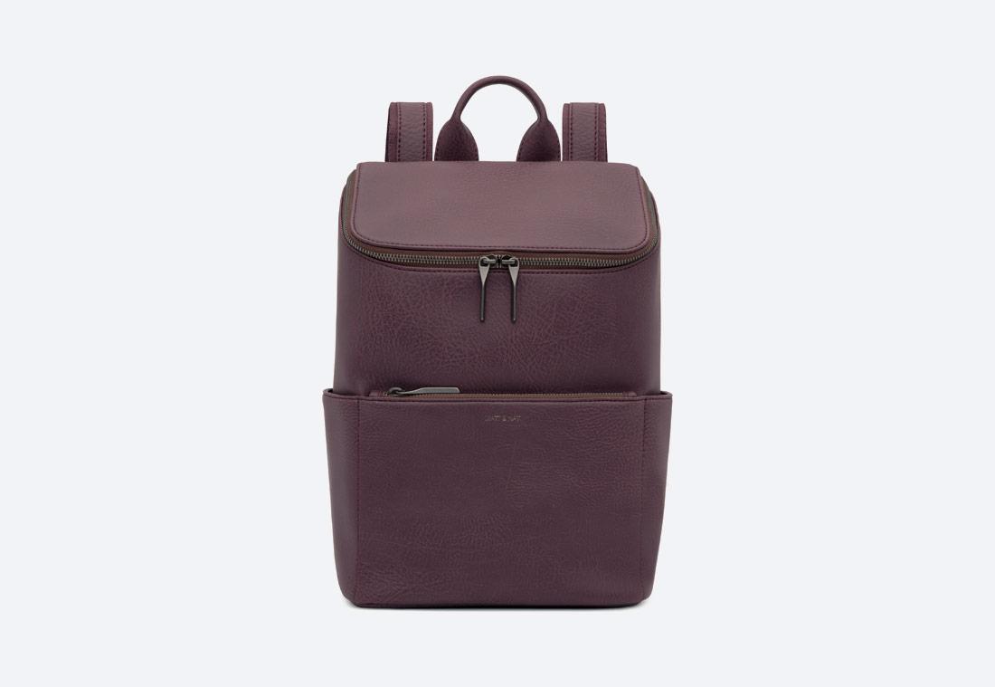 MATT & NAT — Brave — dámský batoh — elegantní — tmavě fialový — vegan, sustainable