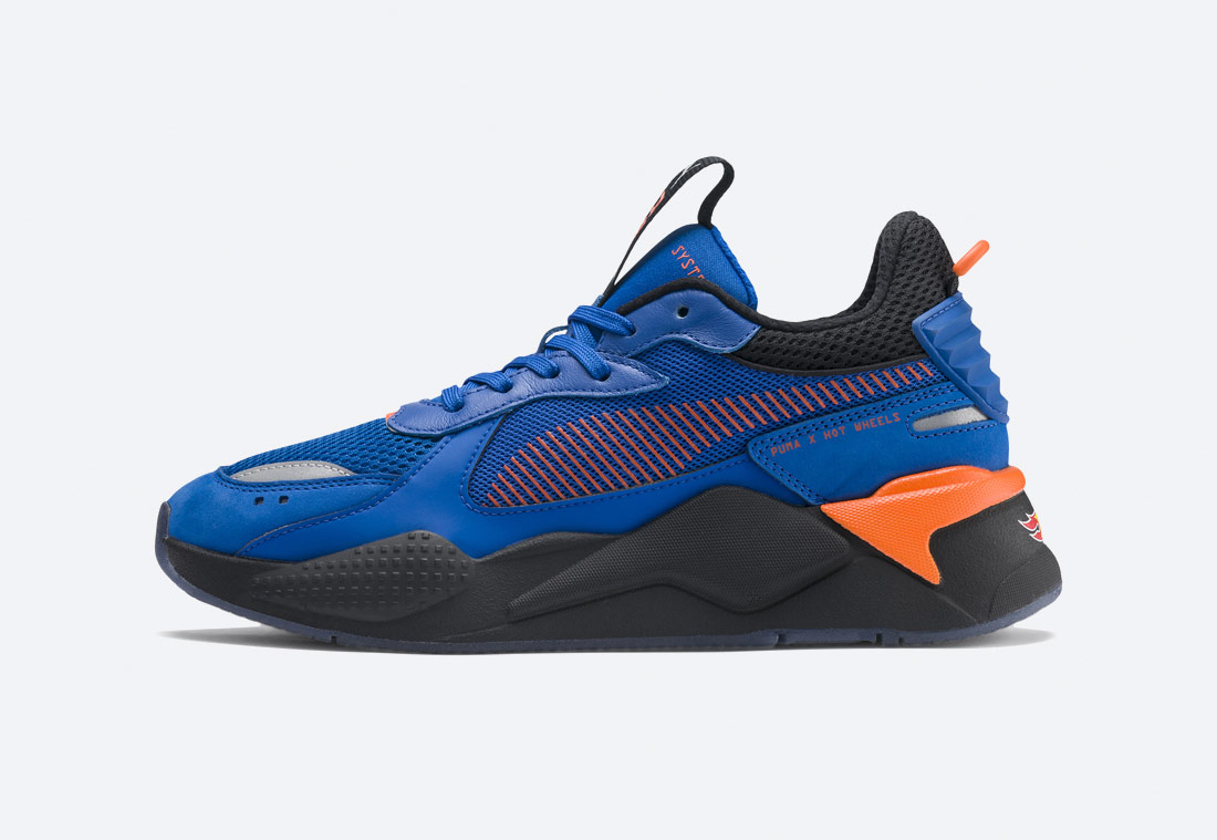 PUMA RS-X TOYS HOT WHEELS BONE SHAKER — boty — sneakers — modré