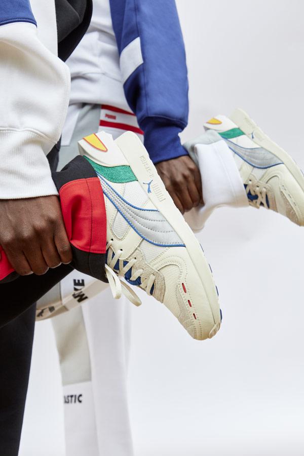 PUMA x ADER ERROR RS-100 — tenisky — boty — sneakers — pánské, dámské — šedé