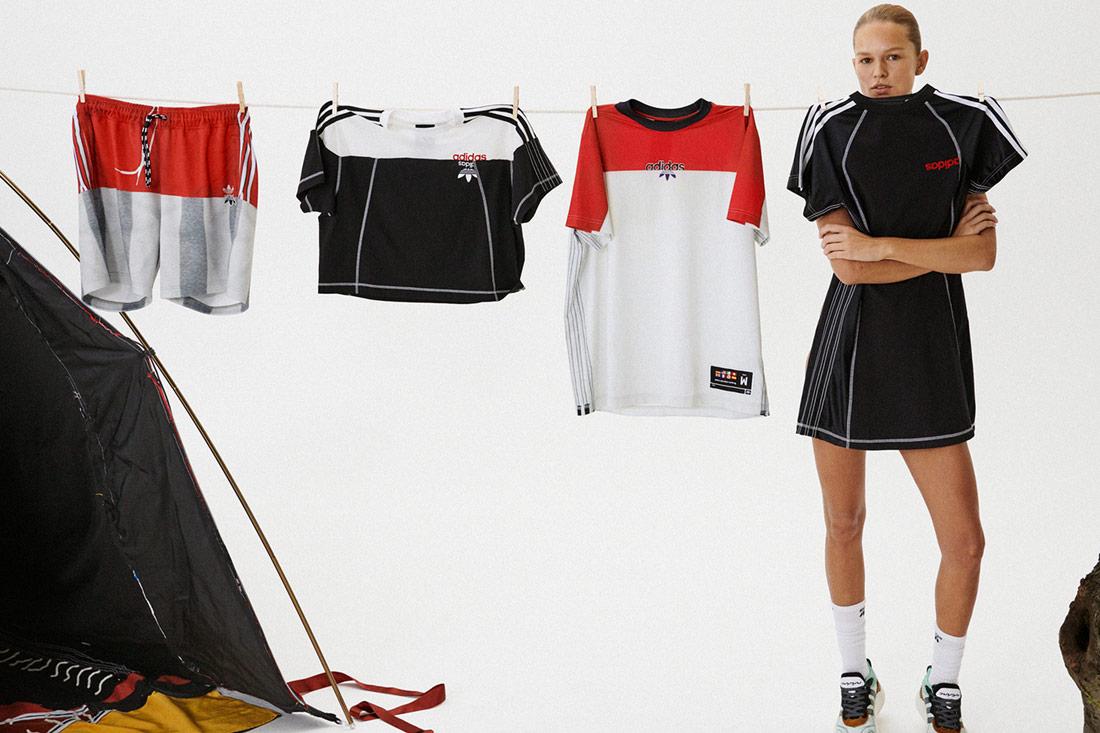 adidas Originals by Alexander Wang — sportovní trička, šortky, šaty — Season 4 — lookbook