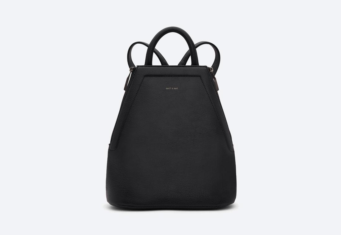 MATT & NAT — Chanda — dámský batoh — elegantní — černý — vegan, sustainable