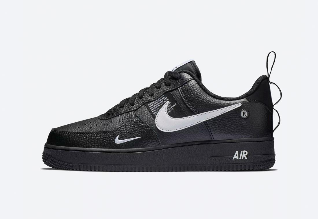 Nike Air Force 1 '07 LV8 Utility — pánské boty — tenisky — sneakers — černé