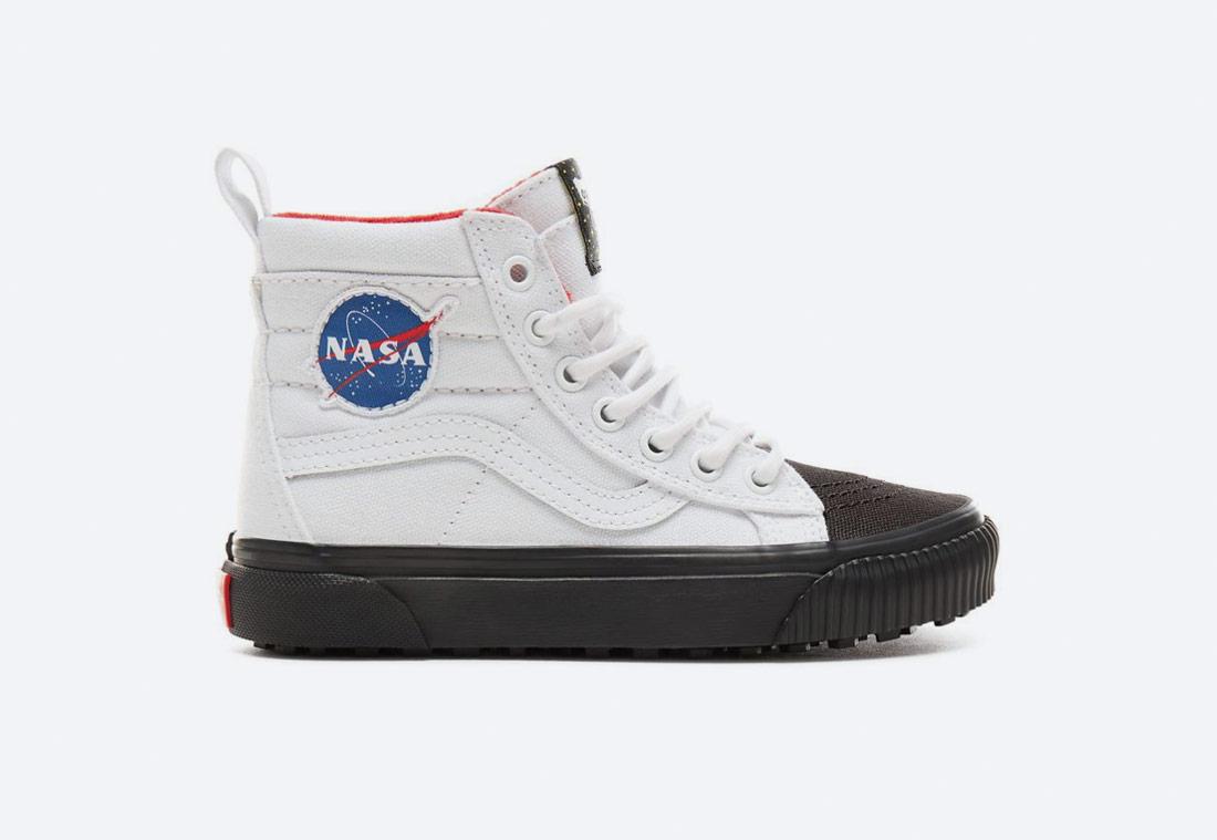 Vans x NASA — Space Voyager Sk8-Hi Mte — kotníkové boty — tenisky — sneakers — bílé — dětské